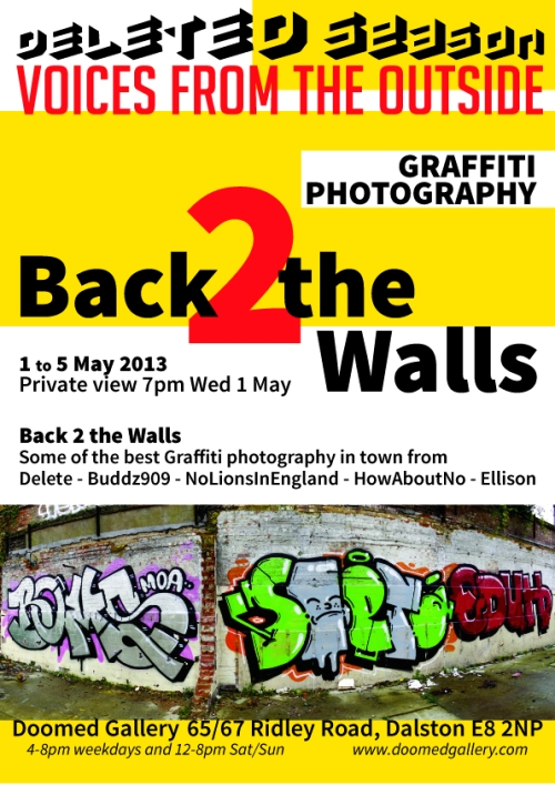 Back 2 the Walls flyer